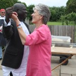 placement director Kate dancing with local partner from The Gambia Adama