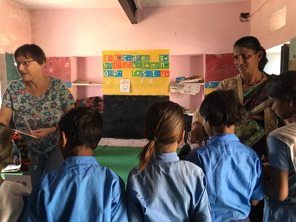 Dianne & Arpita teaching together
