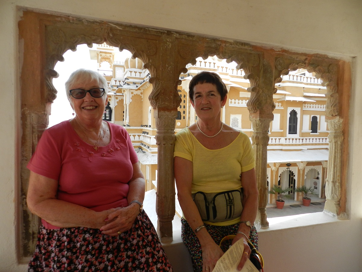 current volunteers, Yvonne & Sue at the Mahal