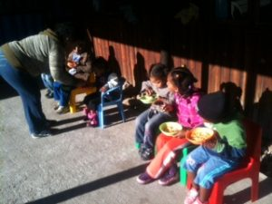 lunchtime for the creche kids