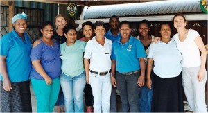 Therese on right with the Emmanuel team