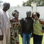 the team - Wally, Aminata, Lamin & Natalie