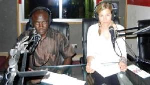 Anke in radio station