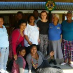 volunteer Jane with EACC staff