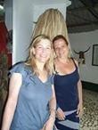 Anke & co-volunteer Hayley - out & about in The Gambia