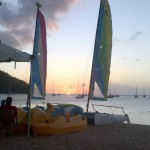 sunset on Saint Lucia
