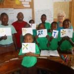 volunteer Yvonne with HI Class 4