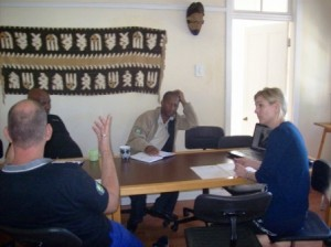 Monga, Nelson,Anke and Paul deep in debate