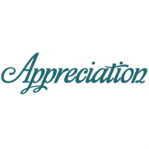 project appreciation for the work of volunteers