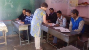 India - teacher training with volunteer Dianne