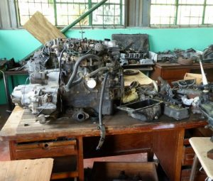 mechanics workshop in one of the C.A.R.E. centres