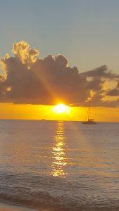 sunset at Rodney Bay